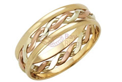 9ct  3 Colour Gold Handmade Celtic Ring