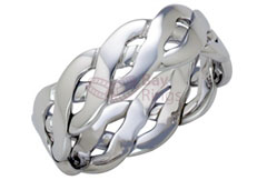 9ct White Gold Handmade Celtic Ring