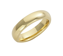 9ct Yellow Gold Court Wedding Rings