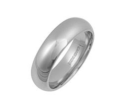 18ct White Gold Court Wedding Rings