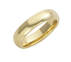 18ct Yellow Gold Court Wedding Rings