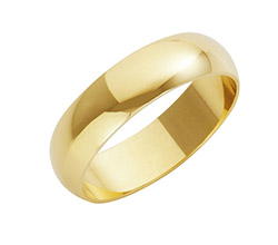22ct Yellow Gold D Shaped Wedding Rings