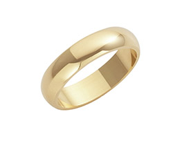 9ct Yellow Gold D Shaped Wedding Rings