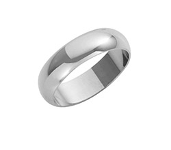 9ct White Gold D Shaped Wedding Rings