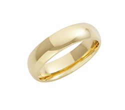 22ct Yellow Gold Court Wedding Rings