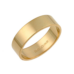18ct Yellow Gold Flat Wedding Rings