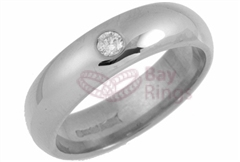 Platinum 0.10ct Brilliant Cut Diamond Wedding Rings