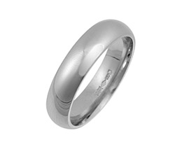 Platinum Wedding Bands Court Shape