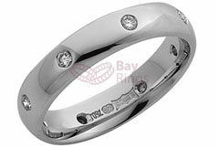 Platinum Eight Diamonds Wedding Ring