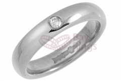 Platinum 0.05ct Brilliant Cut Diamond Wedding Rings