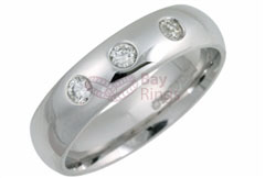 Platinum 0.15ct Brilliant Cut Diamonds Wedding Rings