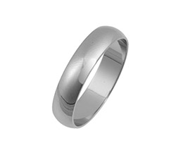 Platinum D Shaped Wedding Bands