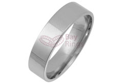 Platinum Flat Court Wedding Bands