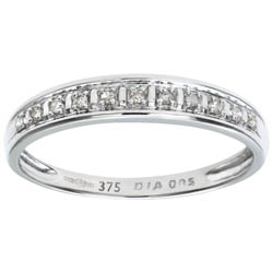Diamond Pave Set 9ct White Gold Eternity Ring
