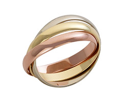 18ct Gold 3 Colour Russian Wedding Ring 18ct Gold 3 Colour Russian