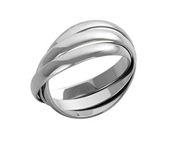 18ct White Gold Russian Wedding Rings