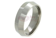 Knife Edge Titanium Ring