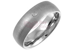 Diamond Titanium Ring | Diamond Set Titanium Ring