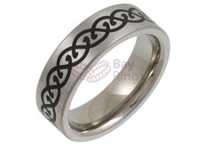 Enamelled Celtic Design Titanium Ring | Enamelled Titanium Ring