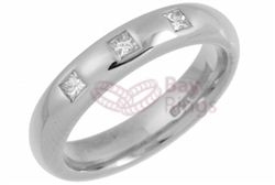 18ct White Gold 0.15ct Princess Cut Diamonds Wedding Rings
