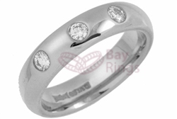 18ct White Gold 0.30ct Brilliant Cut Diamonds Wedding Rings