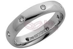 18ct White Gold Eight Diamonds Wedding Rings