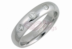 18ct White Gold 0.15ct Brilliant Cut Diamonds Wedding Rings