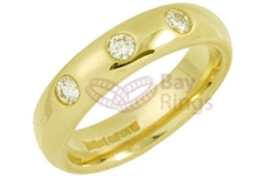 18ct Yellow Gold 0.30ct Brilliant Cut Diamonds Wedding Rings