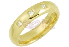18ct Yellow Gold 0.30ct Princess Cut Diamonds Wedding Rings