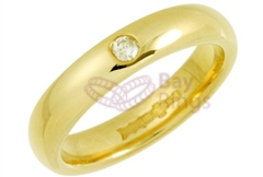 18ct Yellow Gold 0.05ct Brilliant Cut Diamond Wedding Rings