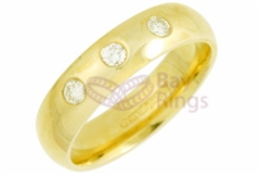 18ct Yellow Gold 0.15ct Brilliant Cut Diamonds Wedding Rings