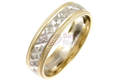 Two Tone Wedding Rings From Bay Ringscouk