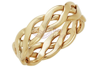 9ct Yellow Gold Handmade Celtic Ring | 9ct Yellow Gold Celtic Ring