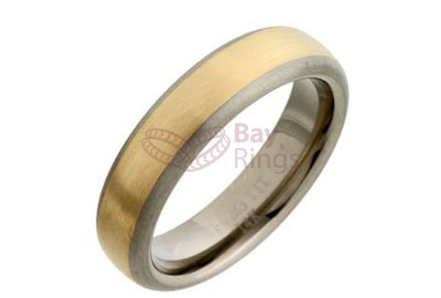 Titanium Ring Gold Inlaid | Gold Inlaid Titanium Ring