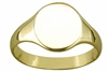 Engravable Ladies Solid  9ct Gold Ovel Signet Ring