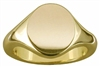 Engravable Men's Solid 9ct Gold Ovel Signet Ring