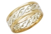 9ct Two Tone Gold  Handmade Celtic Ring
