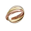 18ct Gold 3 Colour Russian Wedding Ring